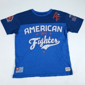 Affliction Mens 2XL Blue American Fighter T-Shirt